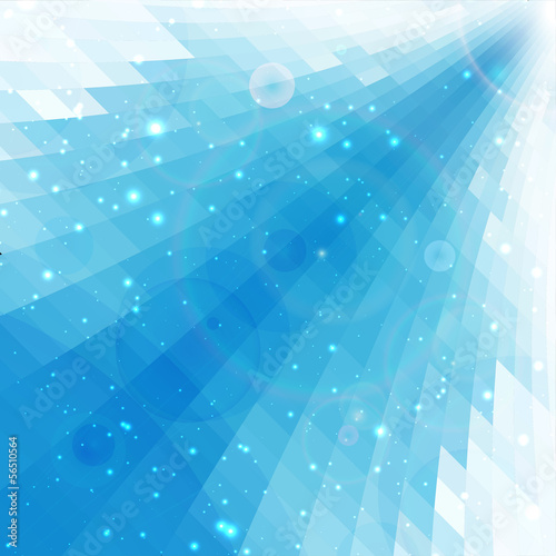 blue rays abstract perspective background