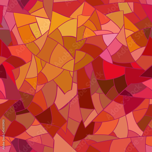 Seamless pattern of geometric mosaic