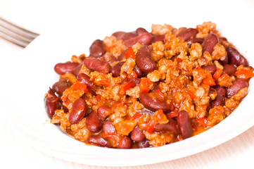 minced meat with bean