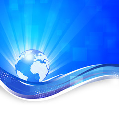 Blue Global Business Background