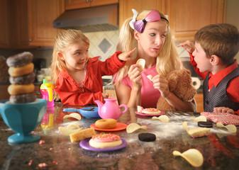 Junk Food Mother Acting Like Children