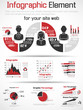 INFOGRAPHIC MODERN COLLECTION FOR YOUR SITE WEB RED