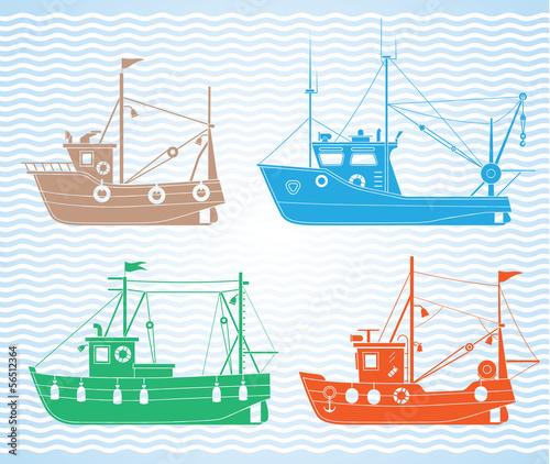 Fishing boats - 56512364