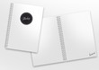 canvas print picture - mockup ringbuch kariert label montage