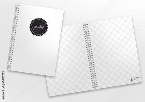 canvas print picture mockup ringbuch kariert label montage