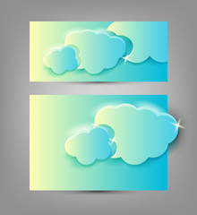 Clouds. Banners templates.