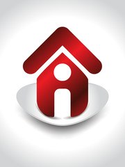 home icon with shaddow