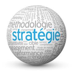 """Globe - Nuage de Tags """"STRATEGIE"""" (tactique idées management)"""