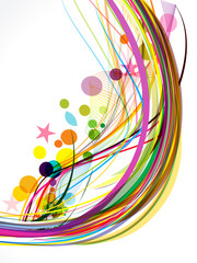 Abstract Colorful Wave Background With Star