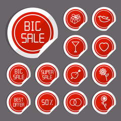 Flat Sale Stickers