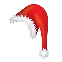 Flauschige Weihnachtsmütze mit hängendem Zipfel und Bommel