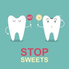 Stop sweets, Idea concept