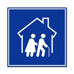 Cartel simbolo residencia de ancianos