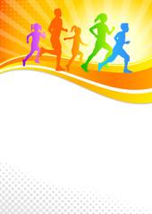 Familie beim Laufen - 2