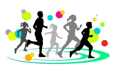 Familie beim Laufen - 3