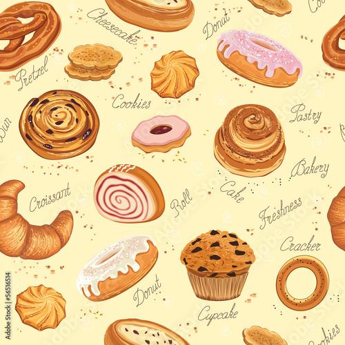 Fototapeta Bakery background