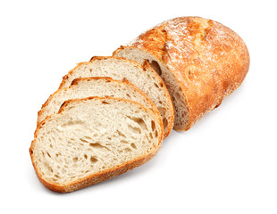 traditional unsliced bread loaf