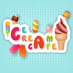 vector illustration of Ice cream Poster design