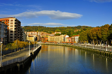 Estuary of Bilbao, in Bilbao, Spain