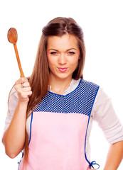 Women threaten spoon