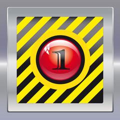 Alarm schwarz gelb rot eins