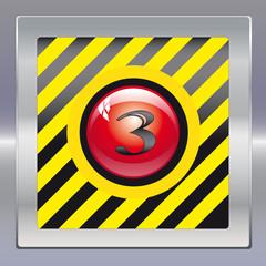 Alarm schwarz gelb rot drei