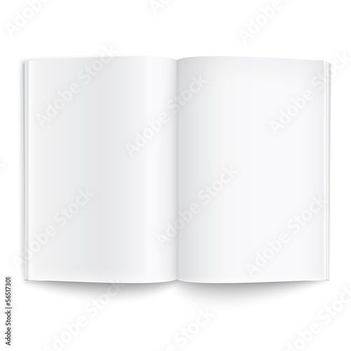Blank magazine template with soft shadows. - 56517301