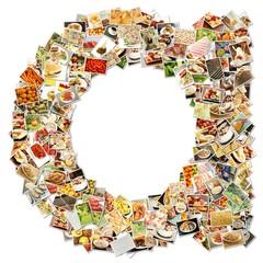 Food Art Letter A
