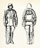 Battledress of soldier (ca. 1920, Latvia)