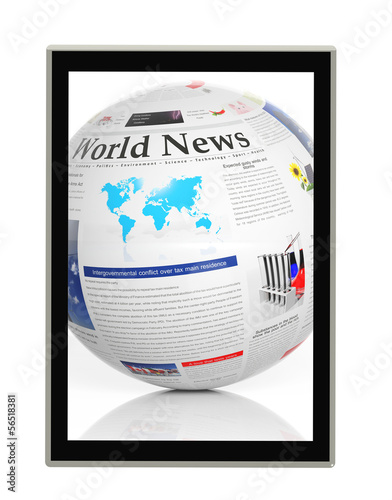 Digital news concept with tablet