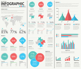 Infographic web design vector elements