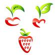 Kirschen und Erdbeere