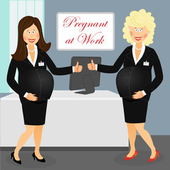 Pregnant at work 6
