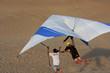 Leinwanddruck Bild - Hang Glider under instruction