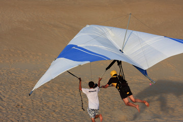 Hang Glider under instruction