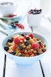 Healthy nutrition: muesli with berries