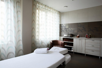 clean european massage room
