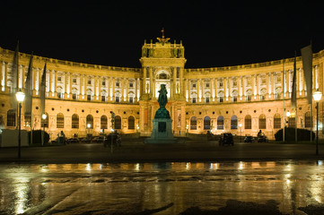 Hofburg Imperial Palace at night