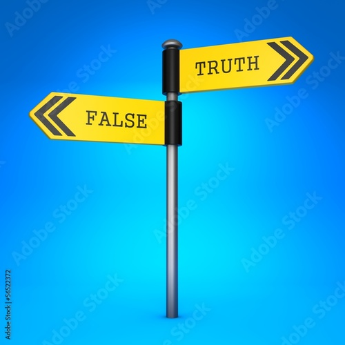 False or Truth. Concept of Choice.