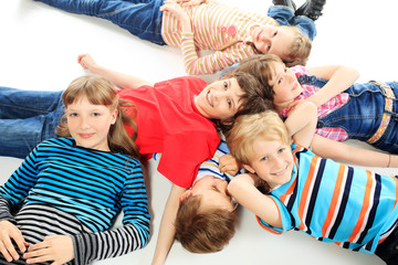 children on a floor