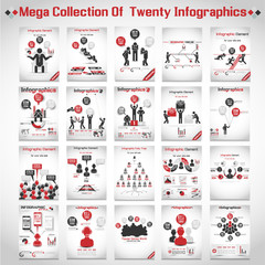 MEGA COLLECTIONS OF TEN MODERN ORIGAMI BUSINESS ICON MAN