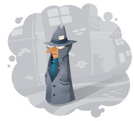 Spy agent, illustration