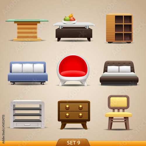 Furniture icons-set 9