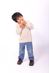 Toddler Eating Apple