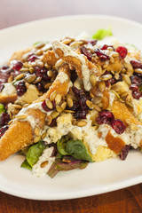 Southern style chicken salad with pumpkin seeds