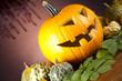 Funny face pumpkin, Halloween