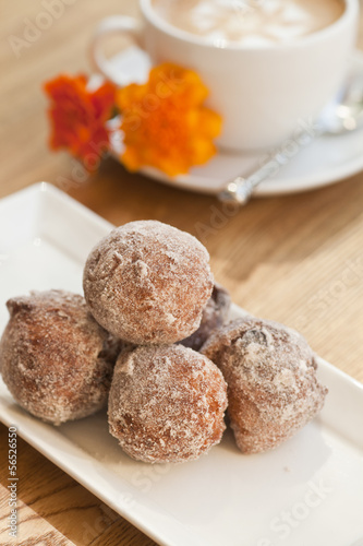 cinnamon and golden raisin beignets