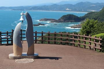 クルスの鐘と日向岬の風景