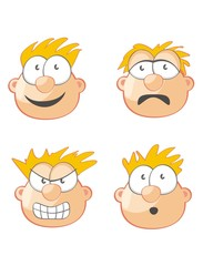 Four Faces and expressions