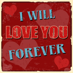 I will love you forever poster